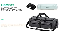 HOMEST 2 Compartments Lightweight Carrying Case Compatible with Cricut Maker and Supplies Grey