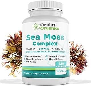 Oculus Organics Sea Moss Complex (120 Capsules/1500mg Serving) | Sea Moss Organic | Irish Sea Moss Organic Raw | Seamoss R...