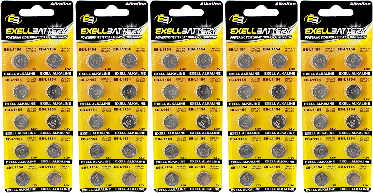 Japan's largest assortment 5pc 10pk Exell EB-L1154 Alkaline 1.5V Watch AG1 Replaces Free shipping anywhere in the nation Battery