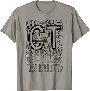 Gifted Talented Typography Back To School Gift T-shirt