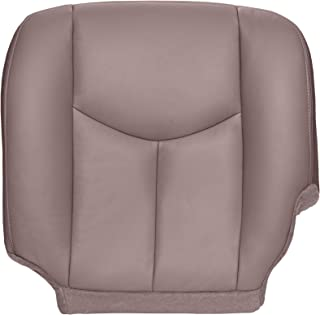 The Seat Shop Driver Bottom Replacement Seat Cover - Medium Neutral (Tan) Leather (Compatible with 2003-2006 Chevrolet Silverado and GMC Sierra)