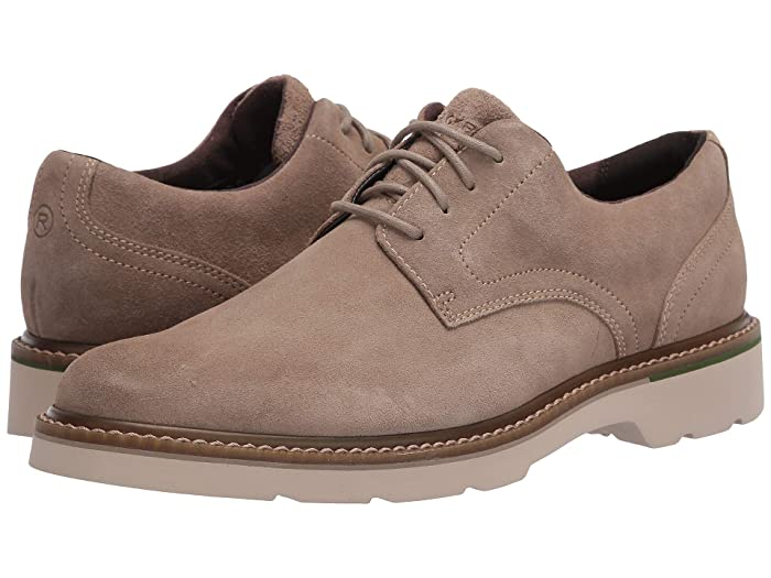 Rockport  Charlee Plain Toe (Sand Suede) Mens Shoes