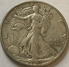1943 D Silver Walking Liberty WWII Coin half Dollar Extremely Fine