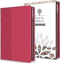 Santa Biblia Rvr 1960 - Tamaño Manual, Letra Grande, Cuero de Imitación, Color Fucsia, Con Cremallera / Spanish Holy Bible Rvr 1960, Handy Size, Large