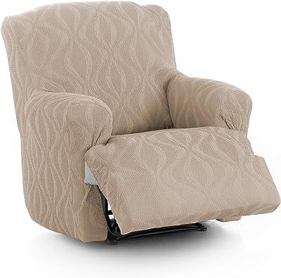 Zebra Textil 18507 Andromeda Housse Extensible pour Sofa 3 Places Marron
