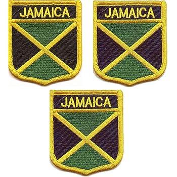 Jamaica Flag Embroidered Iron//Sew On Patch Jamaican Rasta Shirt Hat Bag Badge