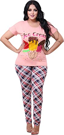 Hi Touch Multi Color Pajama For Women