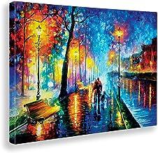 Giallobus - Schilderij - Afdrukken op Canvas - Leonid Afremov - Melodie van de nacht - 100 X 140 Cm
