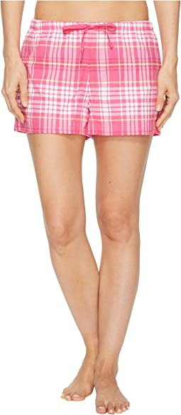 Plaid Sleep Short