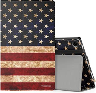 MoKo Case for All-New Amazon Fire HD 8 Tablet (7th/8th Generation, 2017/2018 Release) - Slim Folding Stand Cover for Fire HD 8, US Flag (with Auto Wake/Sleep)