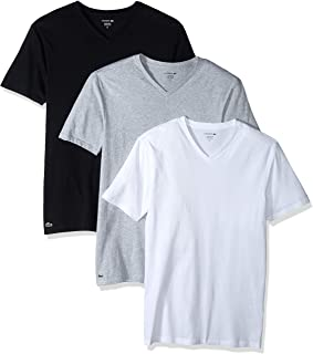 Lacoste Men's 100% Cotton V-Neck T-Shirt, 3 Pack