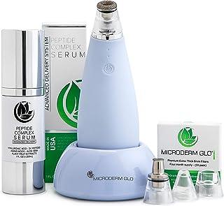 بسته نرم افزاری Skincare Microderm GLO MINI Premium - شامل سیستم میکرودرم ابریژن الماس ، فیلترهای 8 میلیمتری 30 بسته ، سرم پپتید مجتمع. بهترین درمان ضد جوش سر سیاه و ضد خلل و فرج منافذ