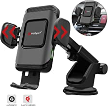YoSpot QI 10W Wireless Car Charger Auto Clamping Phone Mount Air Vent & Windshield Dashboard Phone Holder Compatible with iPhone Xs Max/XR/XS/X/8/8 Plus Galaxy S10/S10+/S9/S9+/S8/S8+ Universal Clamp