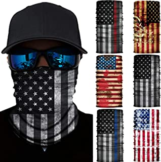 6 Pcs Seamless Bandana Rave Face Mask Dust Wind UV Protection Scarf Sports Headwear Neck Balaclava for Men,Women