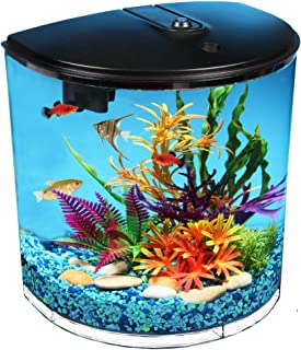 Koller Products 3.5 Gallon Aquarium Kit with Power Filter, LED Lighting, 1-Year Supply of Filter Cartridges
