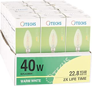 15 Pk, Clear, LED, (B10), Dimmable, 40 Watt Equivalent