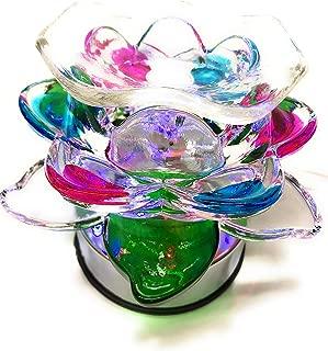Glass Rose Lotus Touch (ET-322) Electric Fragrance Oil Tart Warmer (Burner / Warmer / Lamp)