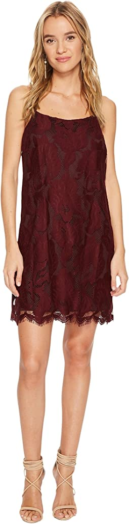 1.STATE - Floral Lace Racerback Shift Dress