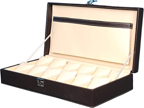 Hard Craft Watch Box Case PU Leather - Brown
