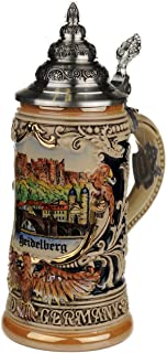 Beer stein by King - Heidelberg City Skyline Relief German Beer Stein 0.4l Limited Edition