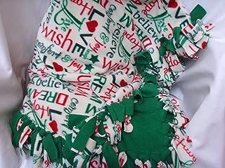 Christmas Fleece Throw Red Green Reversible Blanket 51