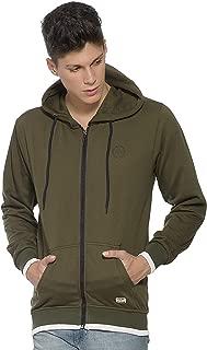 Alan Jones Clothing Men's Cotton Solid Hooded Sweatshirt
