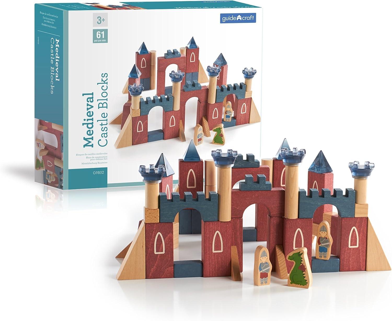 Guidecraft Medieval Castle Blocks (Multi-Colour)