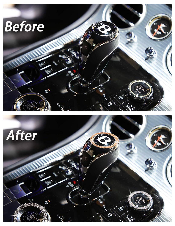 Bling Car Accessories Push to Start Button Start Engine Ring1 Pcs Orange Rhinestone Car Bling Ring Sticker