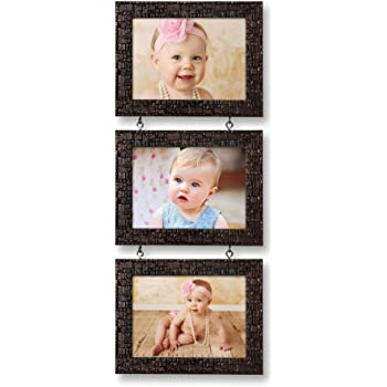 Ajanta Royal Drop-Down 3 - 5 x 7 Photo Frame (Brown Metalic) : A-55