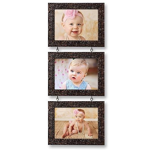Ajanta Royal Drop-Down 3 - 5 x 7 Photo Frame (Brown Metalic) : A-55