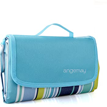 Angemay Outdoor & Picnic Blanket Extra Large Sand Proof and Waterproof Portable Beach Mat for Camping Hiking Festivals