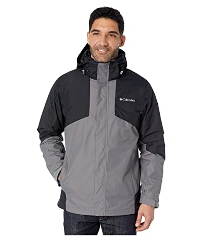 Columbia Bugabootm II Fleece Interchange Jacket (City Grey/Black/Nuclear/Black/City Grey Plaid) Men