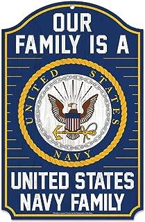 WinCraft Military Navy United States Navy 11 x 17 Wood SignUnited States Navy 11 x 17 Wood Sign, Multicolor, NA
