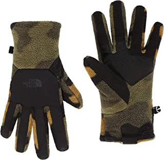 North Face Denali ETIP Gloves Large Burnt Olive Green Woods Camo Print