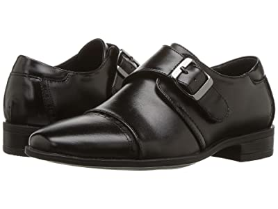 Stacy Adams Kids Macmillian Cap Toe Monk Strap (Little Kid/Big Kid) (Black) Boys Shoes