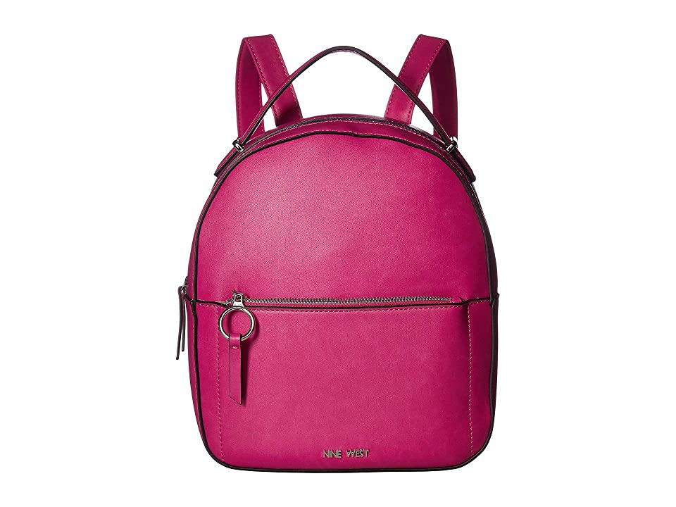 Nine West Poppie Backpack (Passion Pink) Backpack Bags