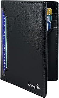 Portefeuille Homme - Porte Carte De Credit Anti RFID - Protection Cartes Bleue Pièce identité Francaise Permis Conduire - ...