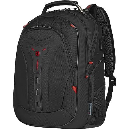 Wenger Pegasus Deluxe Laptoprucksack 14 16 Laptopfach 10 Tabletfach Usb Stecker Damen Herren Schwarz Koffer Rucksäcke Taschen