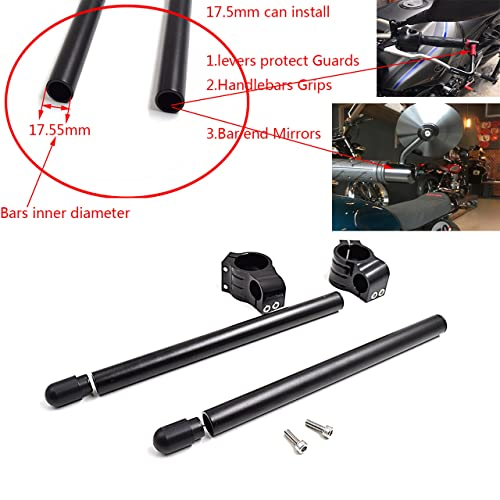 CNC Aluminio Kit semimanillares moto 37mm para GS500 GT550 Universal Tenedor Ø 37MM semimanillares racer café