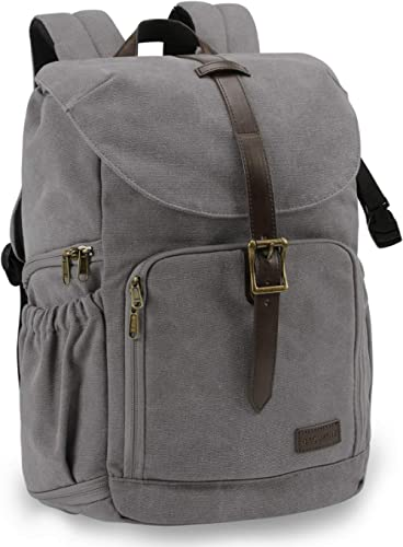 "BAGSMART Camera Backpack, Anti-Theft DSLR SLR Camera Bag Water Resistant Canvas Backpack Fit up to 15"" Laptop with Ra..."