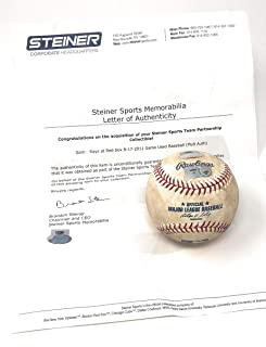 Boston Redsox 8/17/11 Vs Tampa Bay Devil Rays Game Used MLB Baseball (Actually Used In This MLB Game) Steiner Sports Certified ****BLOWOUT SALE****