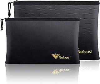 "Noiposi Fireproof Document Bags,13.4""x9.4"" Waterproof and Fireproof Bag for Documents and 10.6""x6.7"" Fireproof Money Bag w..."