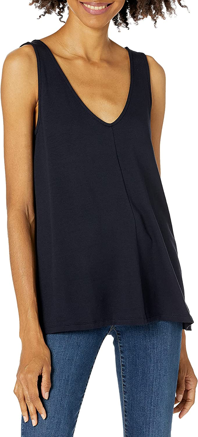 Amazon Brand - Daily Ritual Women's Supersoft Terry V-Neck Tank
