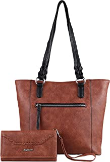 Concealed Carry Purse - Two-tone Grace Tote with Wallet by Lady Conceal