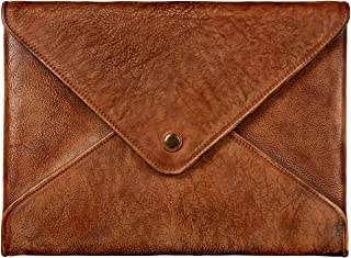 TOPHOME Laptop Sleeve Business Office Bag Briefcase Bag for MacBook Pro 13 MacBook Air 13 inch Laptop/Chromebook/Acer/Asus/Dell/Lenovo/HP/Samsung/Sony/Toshiba Notebook Genuine Leather(Brown)