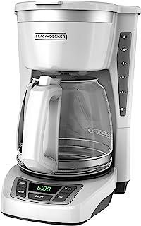 Black+Decker CM1160W-1 CM1160W 12-Cup Programmable Coffeemaker, White