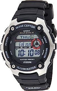 Casio WAVE CEPTOR Orologio con Ricezione Segnale Radio, Digitale, Uomo