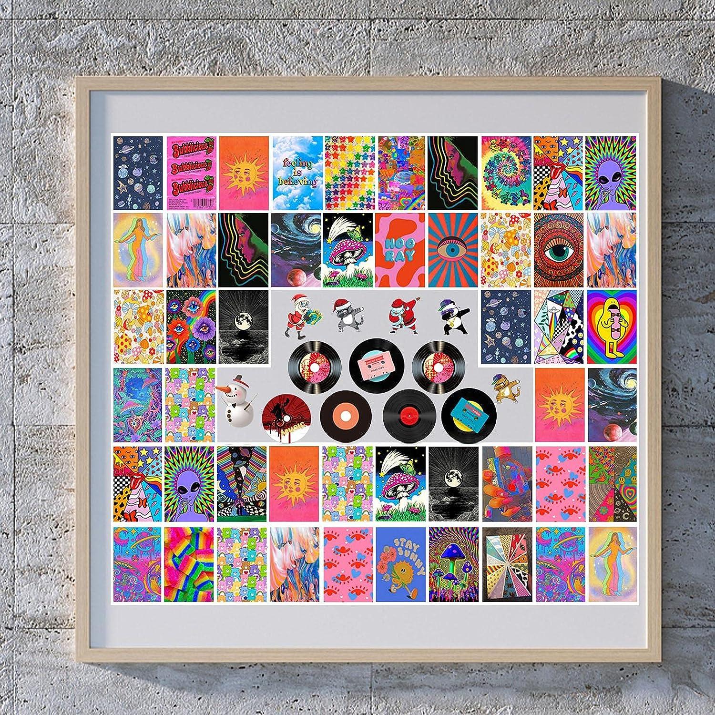 fdsfa Kit de Collage Colorido, 60 Piezas Fotos Pared Decoracion, Fotos Decoracion Habitacion Aesthetic, Imagen estética, Decoración de Pared Foto Linda, Vinilos/Posters para Pared, Decorativo Postal