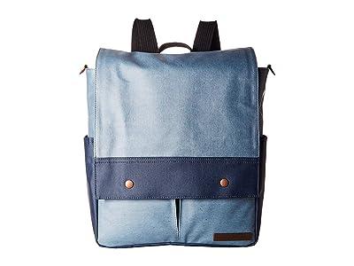 petunia pickle bottom Denim Pathway Pack (Blue) Diaper Bags