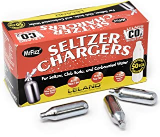 100 Leland (LE10 CO2) CO2 Soda Chargers - 8 Gram C02 Seltzer Water Cartridges For Use With Hamilton Beach Fizzini, and all...